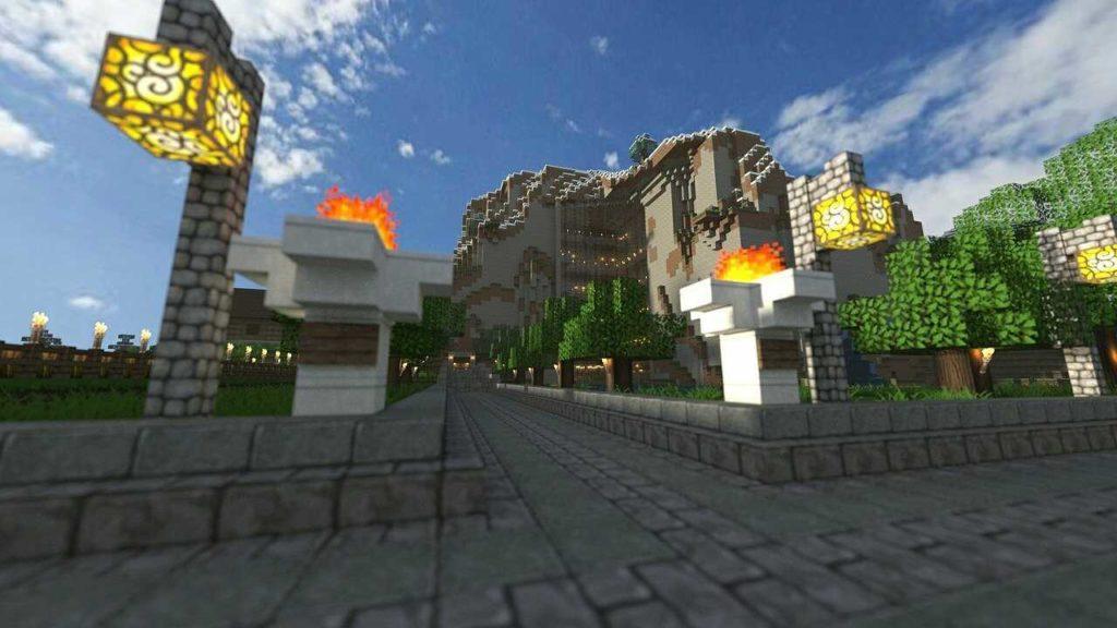 Luz y decoración en casa de Minecraft